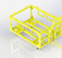 Carrinho industrial plataforma