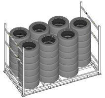 Rack para estocagem de pneus